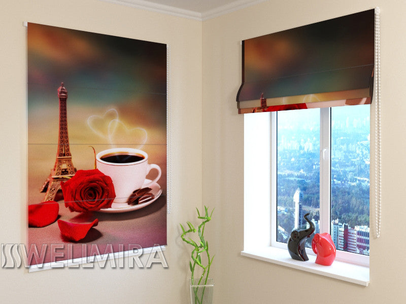 Roman Blind French Coffee - Wellmira