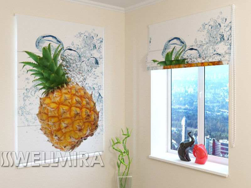 Roman Blind Fresh Pineapple - Wellmira