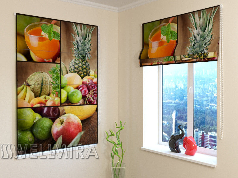 Roman Blind Fruits for Breakfast - Wellmira