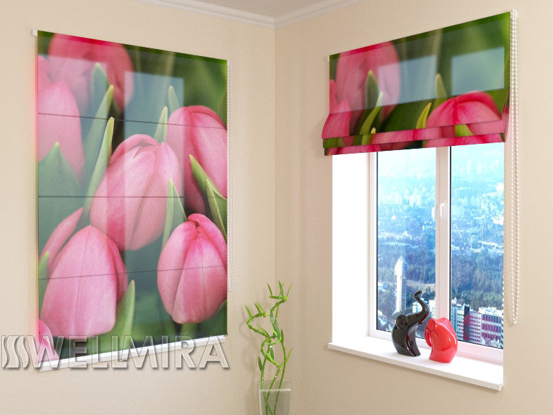 raffrollo april tulips interior textiles wellmira. Black Bedroom Furniture Sets. Home Design Ideas