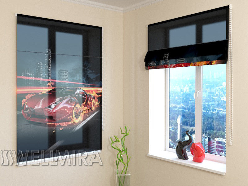 Roman Blind Fiery Supercar - Wellmira