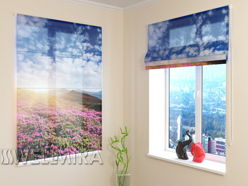 Roman Blind Flowers and Mountains - Wellmira