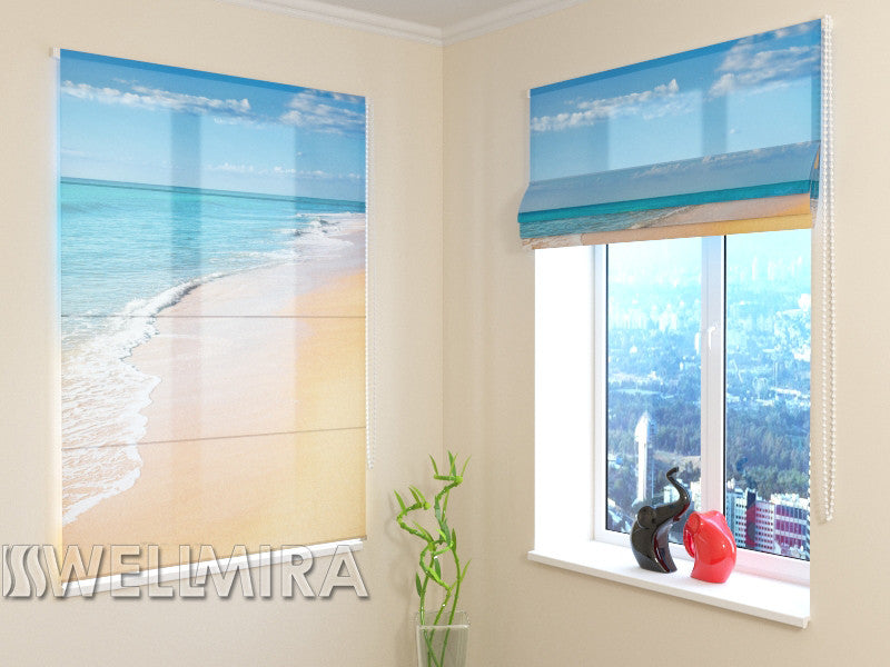 Roman Blind Golden Sand 2 - Wellmira