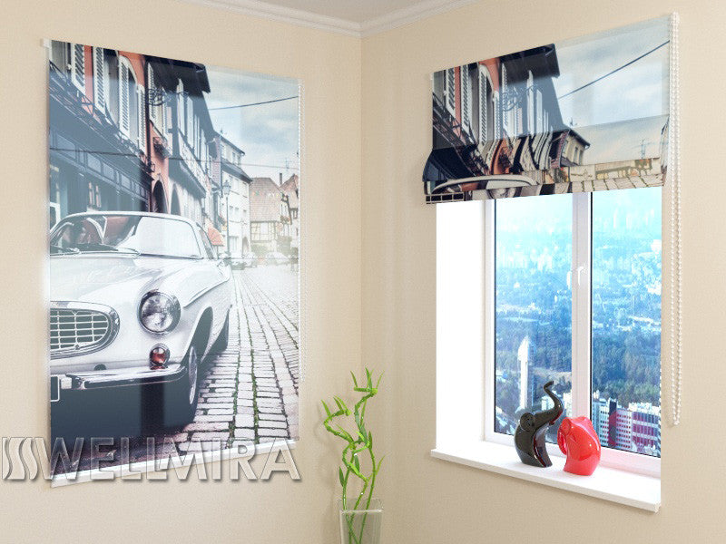 Roman Blind Retro City - Wellmira