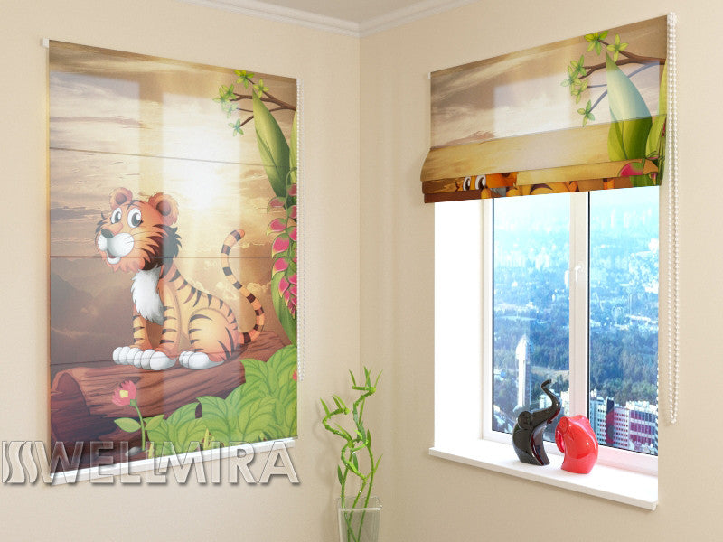 Roman Blind Tiger and Sun - Wellmira