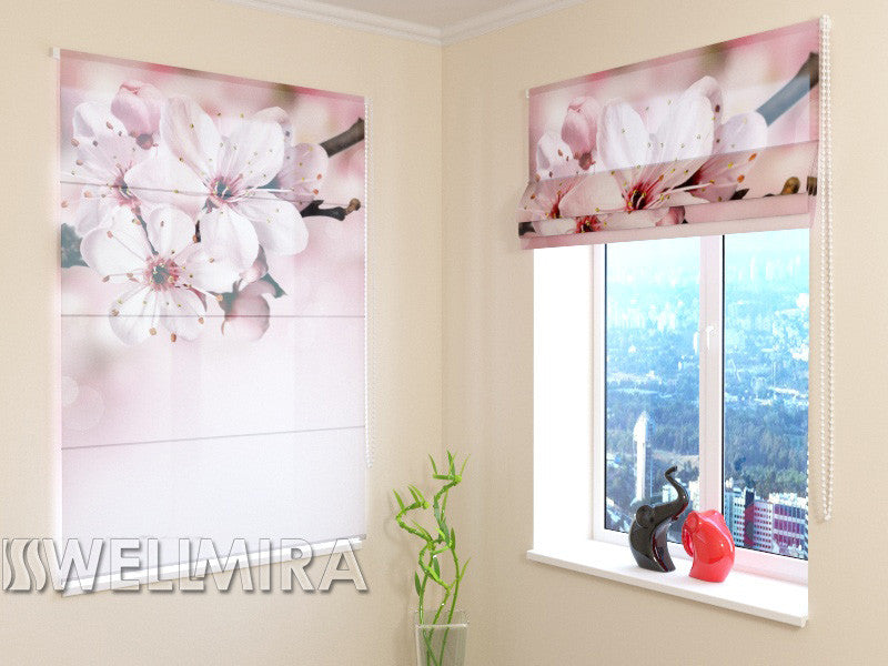 Roman Blind Twig with Flowers - Wellmira