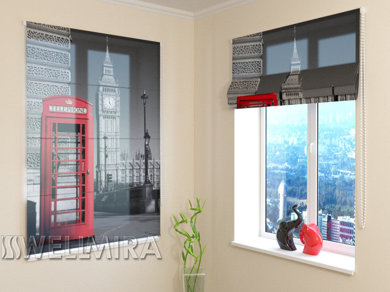 Roman Blind London Telephone - Wellmira
