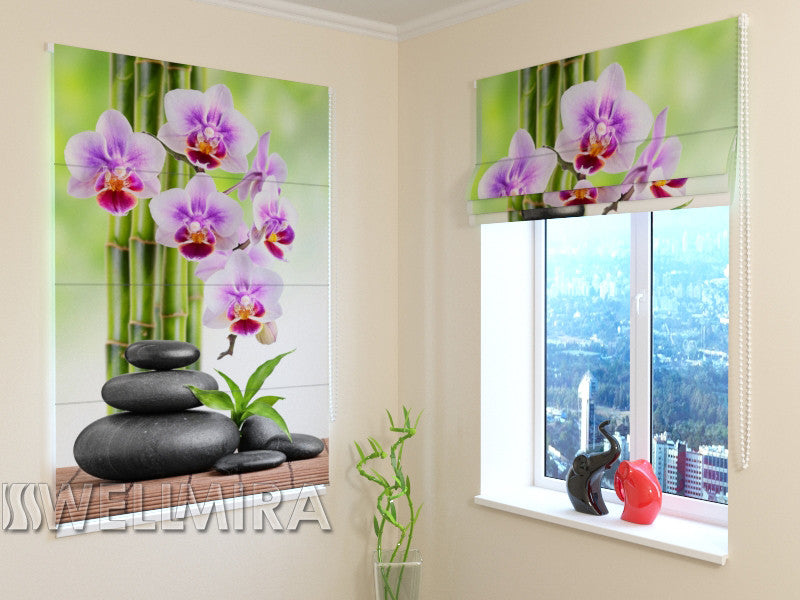 Roman Blind Orchids and Stones - Wellmira