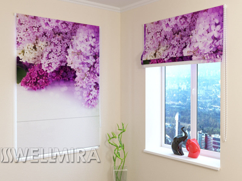 Roman Blind Paris lilac - Wellmira