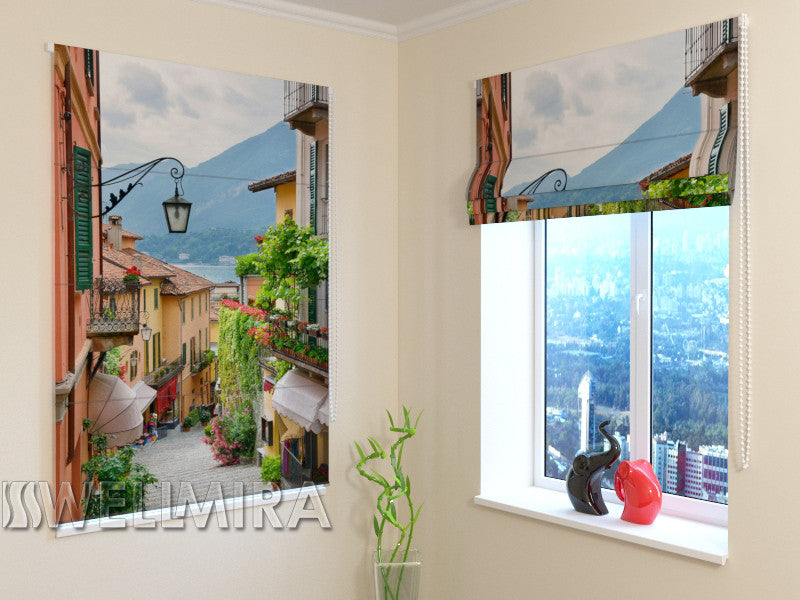 Roman Blind Picturesque Italian Town - Wellmira