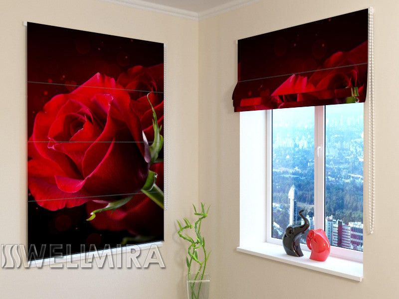 Roman Blind Red Heart - Wellmira