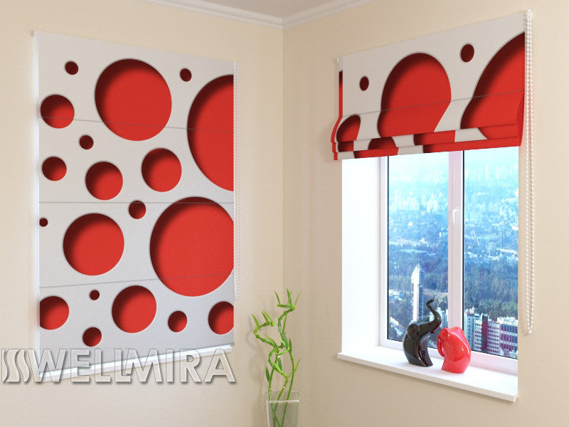 Roman Blind Red Style - Wellmira