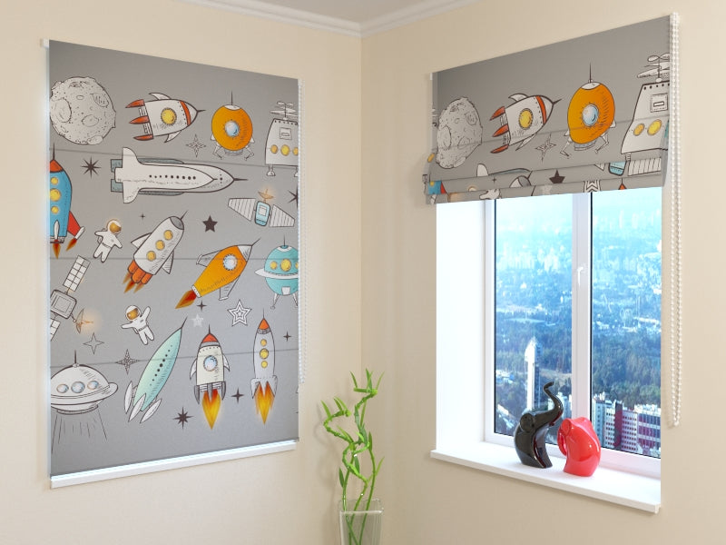 Roman Blind Spaceships and Shuttles - Wellmira