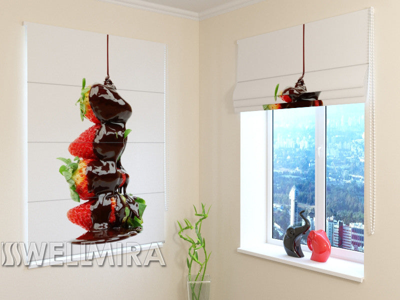 Roman Blind Strawberries with chocolate - Wellmira