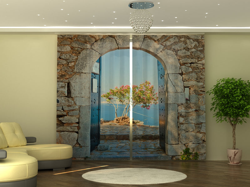 Photo-curtain Archway to the Sea W290xH245 cm