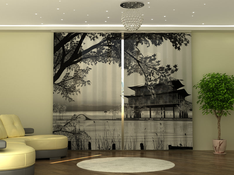 Photo-curtain Chinese Landscape W290xH245 cm