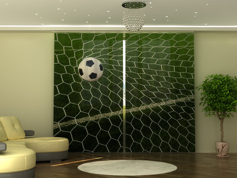 Photo-curtain Football Ball in Goal W290xH245 cm