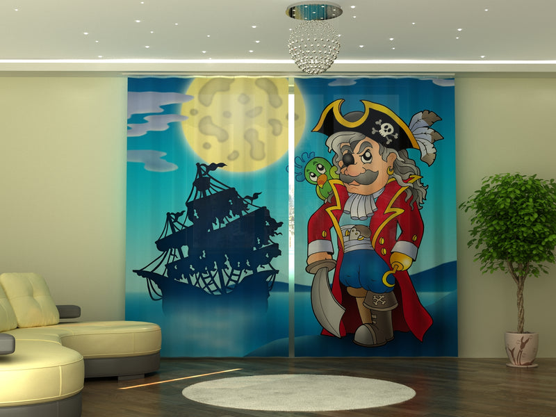 Photo-curtain Pirate W290xH245 cm