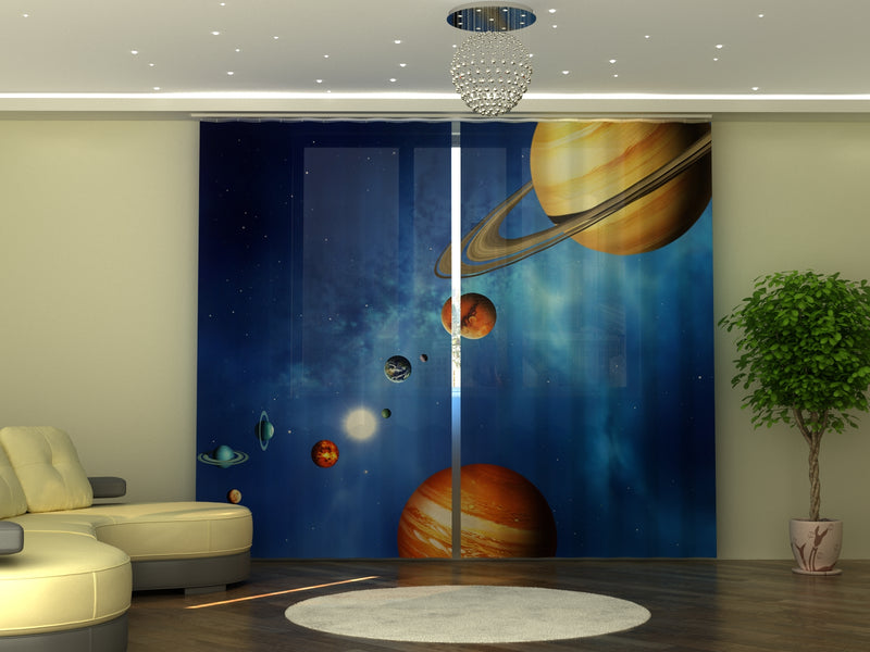 Photo-curtain Solar System W290xH245 cm