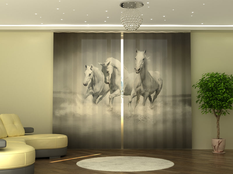 Photo-curtain White Gracefulness W290xH245 cm