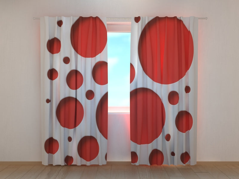 Photo Curtain Red Style - Wellmira