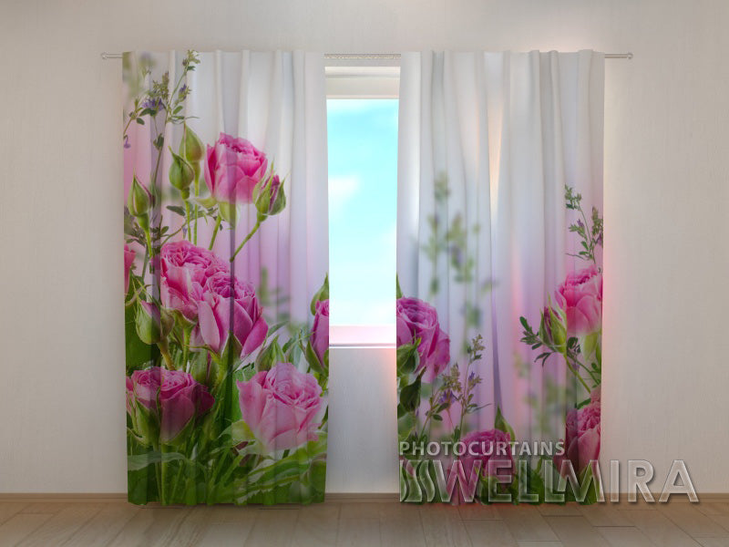 Photocurtain Pink Roses - Wellmira