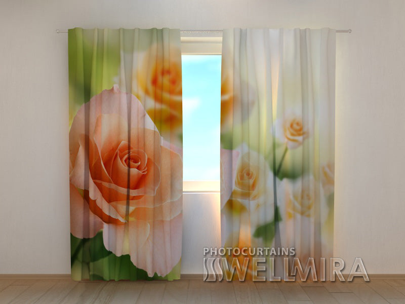 Photocurtain Bride's roses