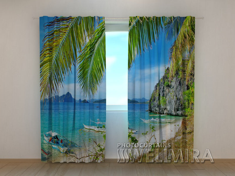Photo Curtain Sand Coast - Wellmira