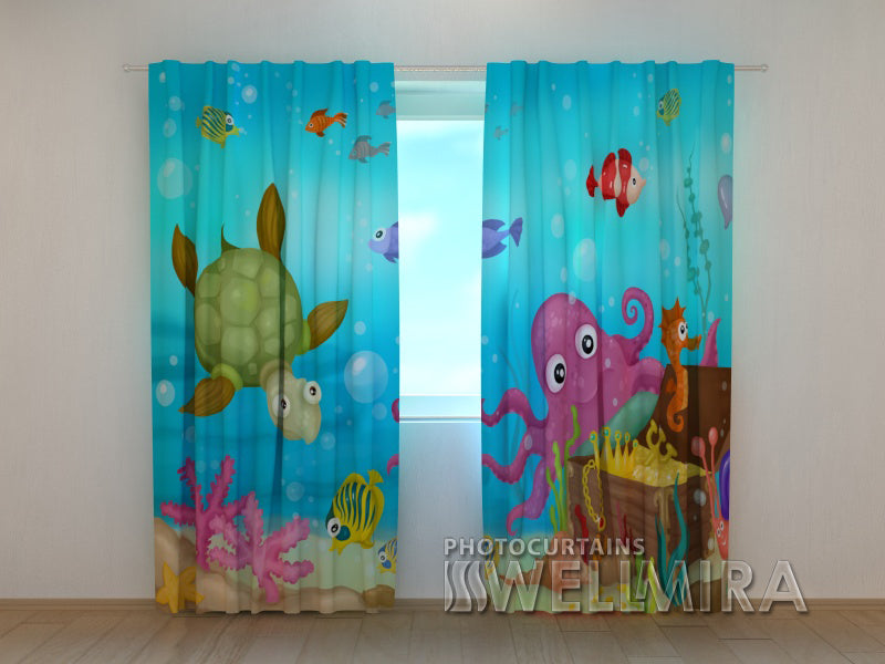 3D Curtain Seascape - Wellmira