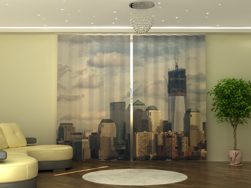 Photo-curtain Silver City W290xH250 cm - Wellmira