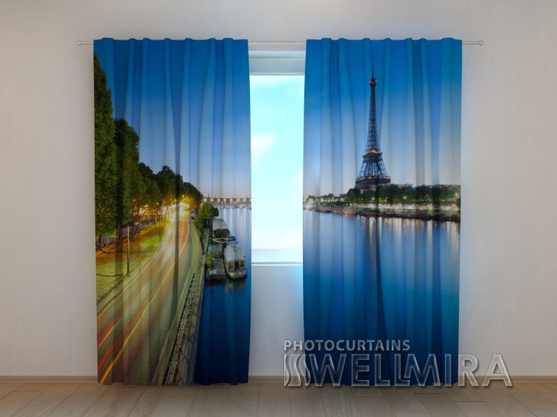 Photo Curtain Sky over the Eiffel Towert - Wellmira