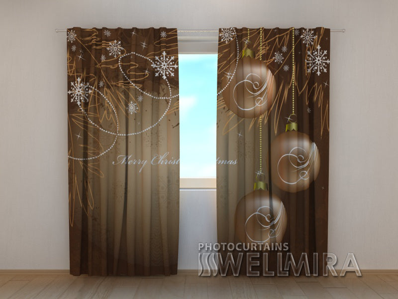 Photo Curtain Snowflakes - Wellmira