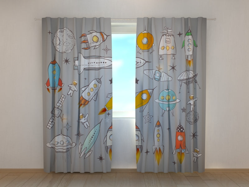 Photo Curtain Spaceships and Shuttles - Wellmira