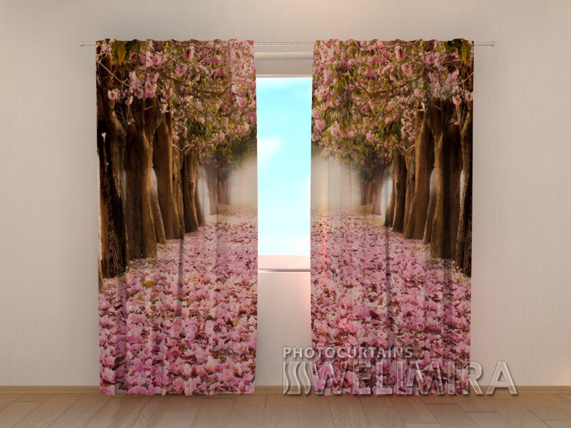 Photo Curtain Spring Magnolias