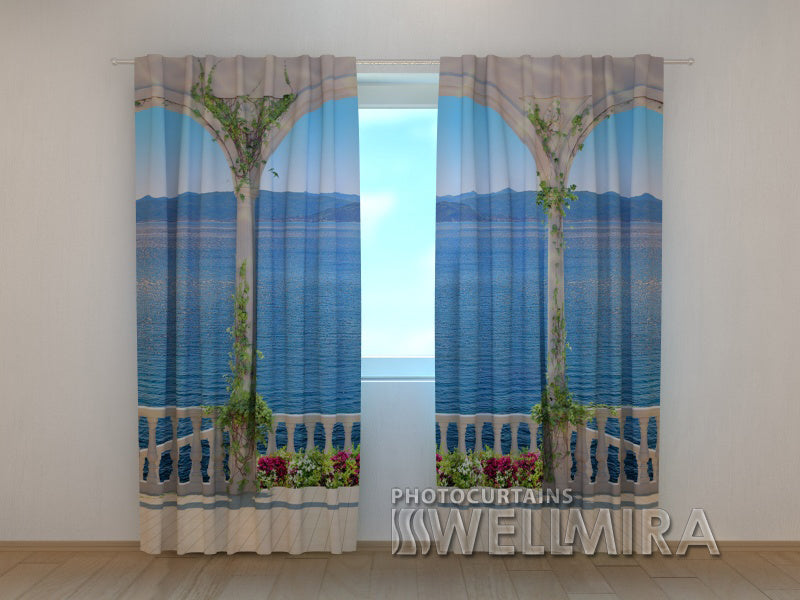 Photo Curtain Staircase to the Sea - Wellmira