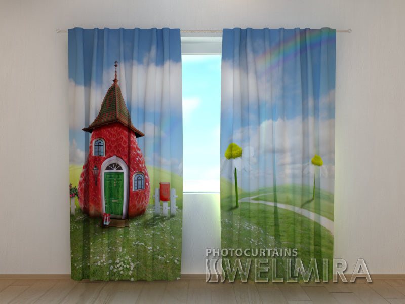 3D Curtain Strawberry - Wellmira