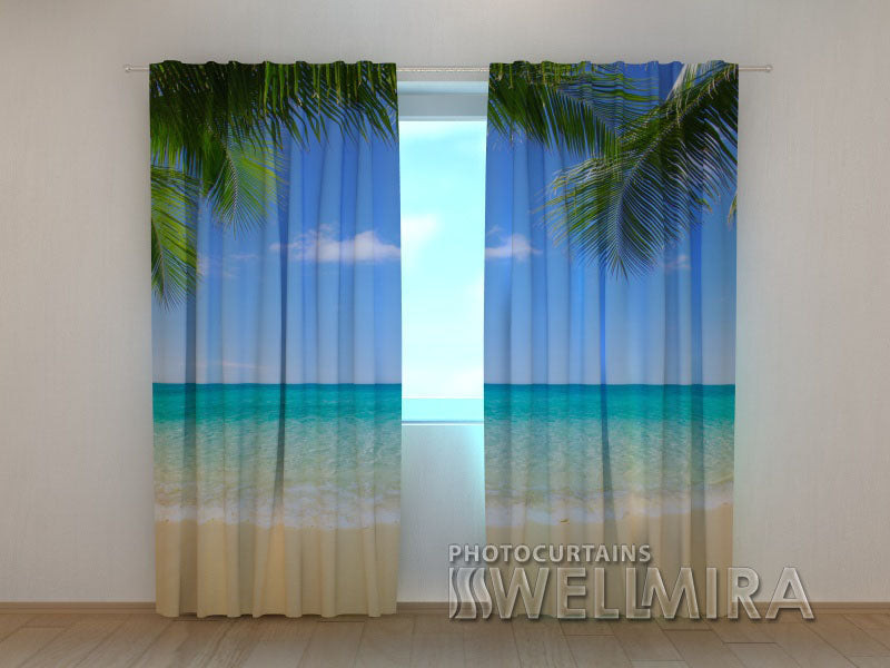 Photo Curtain Summer Beach 2 - Wellmira