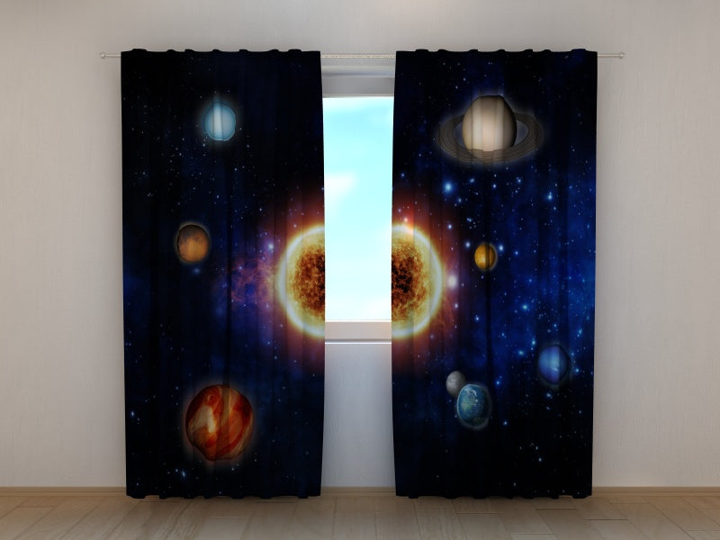 Photocurtain Sun and Planets - Wellmira