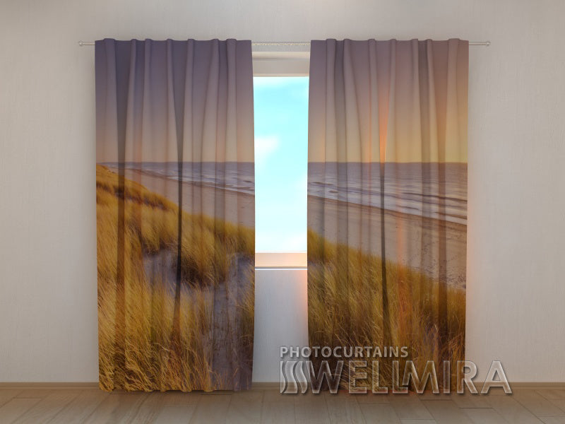 Photo Curtain Sunset in Netherlands - Wellmira