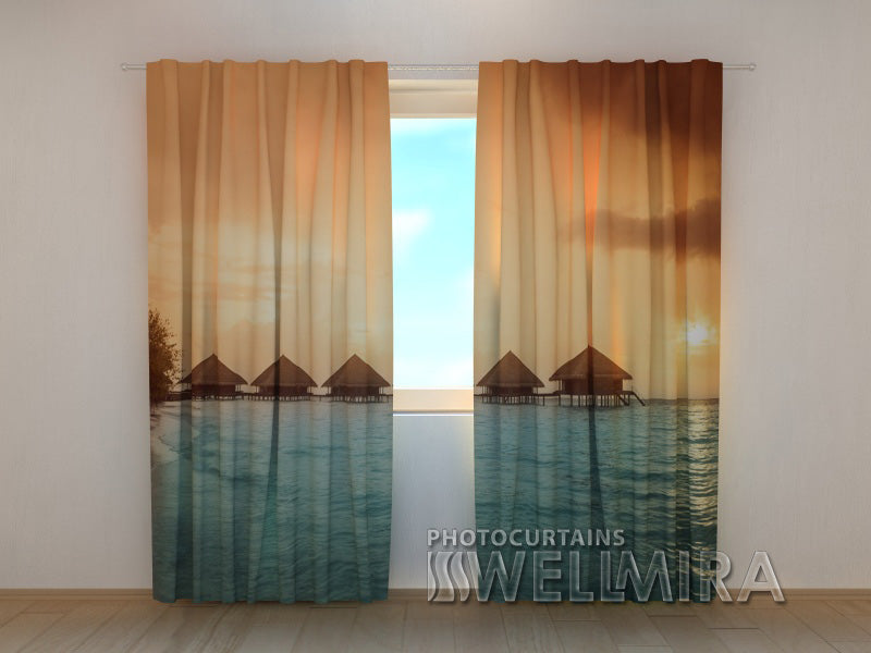 3D Curtain Sunset in Thailand - Wellmira