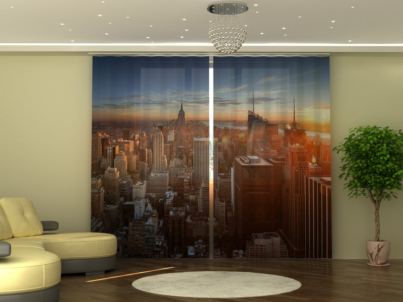 Photo-curtain Sunset in the City W290xH250 cm - Wellmira