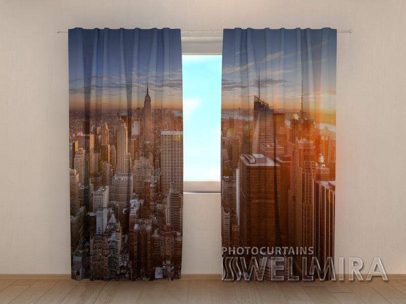 Photo Curtain Sunset in City - Wellmira