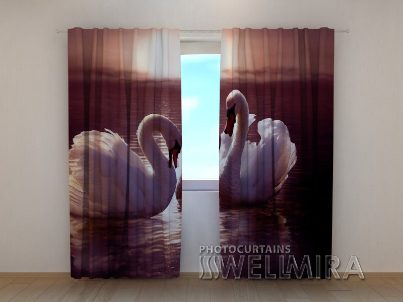 3D Curtain Swans - Wellmira