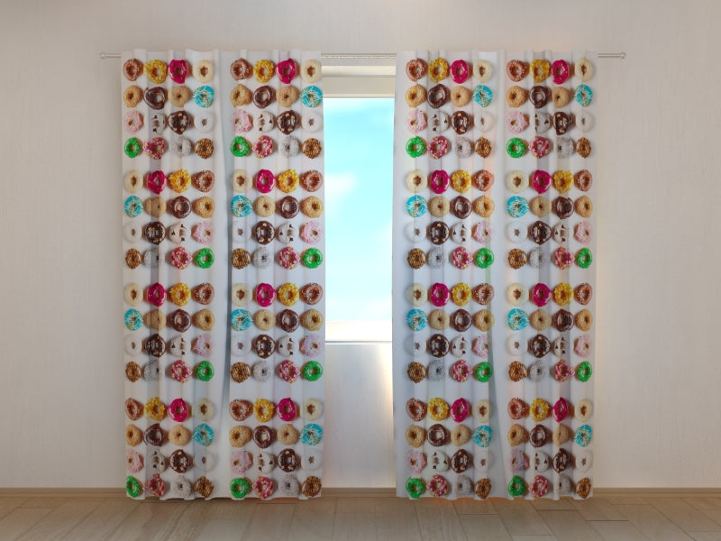 Photo Curtain Sweet Donuts - Wellmira