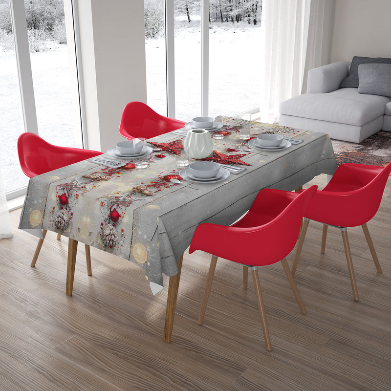 Christmas Tablecloth Christmas Red Star 2 - Wellmira