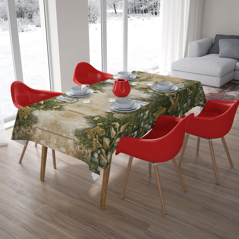 Christmas Tablecloth Fir Branches - Wellmira