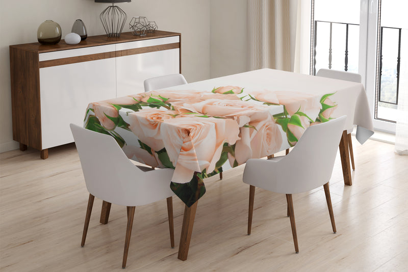 Tablecloth Cream Roses - Wellmira