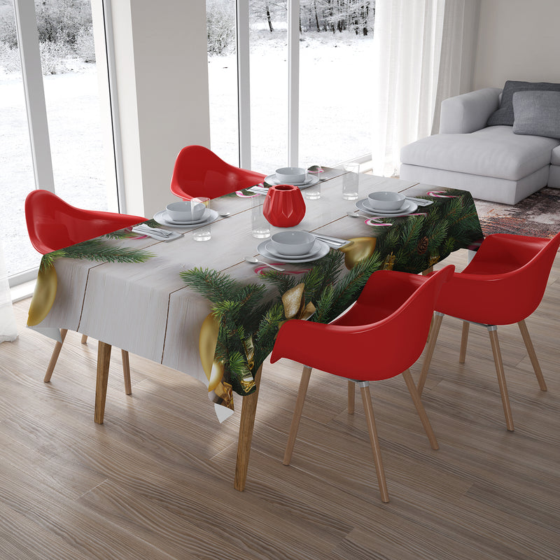 Christmas Tablecloth Golden Bell - Wellmira