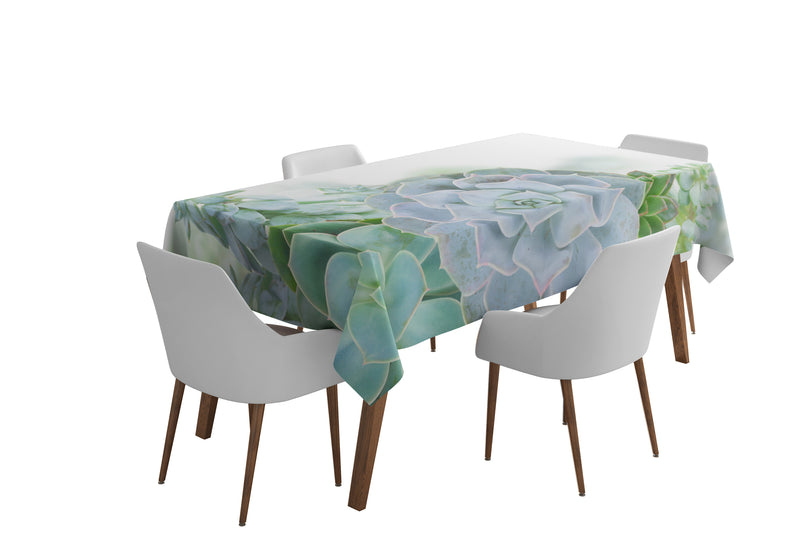 Tablecloth Green Succulent Plants - Wellmira