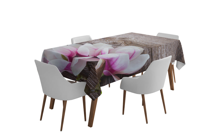Tablecloth Magnolisas on the wood - Wellmira